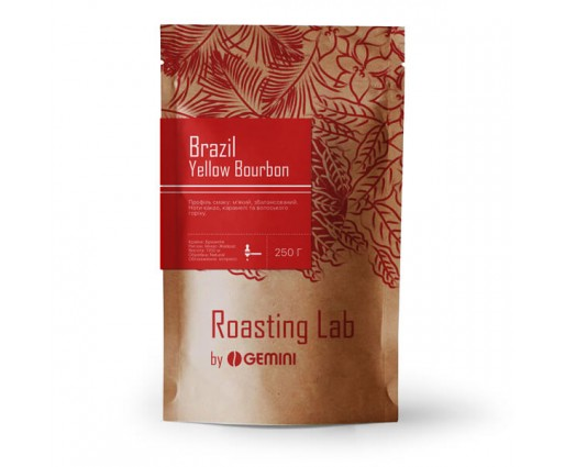 Кофе в зернах Моносорт Brasil Yellow Bourbon Gemini (250 г.)